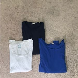 J Crew T Bundle. 3 total Size M. EUC